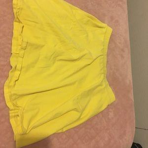 yellow skater skirt. Stretchy waistband
